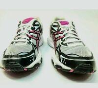 Asics Womens Sz 8 Gel Galaxy 5 Running Athletic Shoes T281N White, Black, Berry