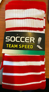 Brand New in Packaging Adidas Team Speed Sock Red/White Size Large Ready for Pla