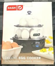 DASH / BLACK DELUXE 12 EGG CAPACITY ONE TOUCH COOKING COOKER NEW IN BOX