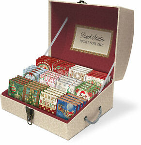 Punch Studio H8 Christmas Holiday Pocket Note Pads With Gems - Choose Design