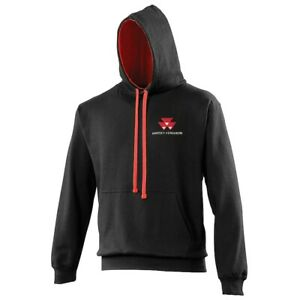Massey Ferguson Contrast Hoodie- Embroidered- XS to 5XL