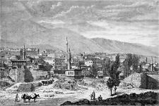TURKEY - THE CITY OF ERZURUM in the 19th century - Engraving from 19th century