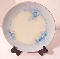 "Weimar Germany Porcelain 8 1/2"" Plate Floral Spray Lilac? Gold Trim"