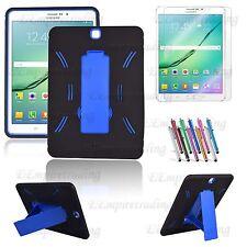 "Samsung Galaxy Tab S2 / S3 9.7"" Hybrid Heavy Duty Kickstand Hard Soft Case Cover"
