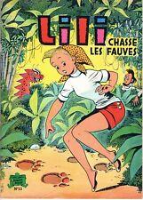 LILI numéro 13 CHASSE LES FAUVES  RARE EDITION 1979
