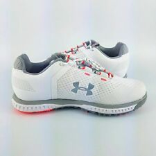 Under Armour Ladies Fade Rst Golf Spikes - White/Grey - 3000221-100 - Sz 9