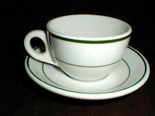 Shenango Restaurant Ware NIAGARA Green Stripe/Band Cup Saucer/s