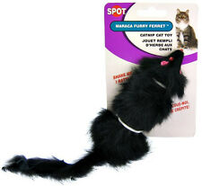 """SPOT ETHICAL FUR NOISY RATTLE FERRET 5.5"""" CAT TOY. IN THE USA"""