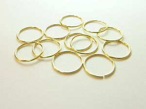 Gold Plated Sterling Silver Nose Hoop Ring Stud 8mm,10mm Packs 1,2,5,10,20,40