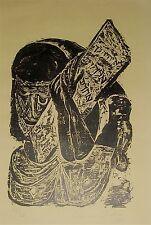 "Unframed Woodcut By KARL HEINZ HANSEN-BAHIA (1915-1976) Titled ""Moises"" Moses"