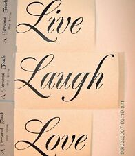 Live Laugh Love Vinyl wall decal words quotes lettering Family DIY