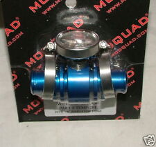Billet inline cooler with temp guage Yamaha Banshee 350 blue 1987-2006