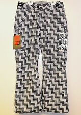 RIDE Women's HIGHLAND Insulated Pants - Blk/WhtWeave - Medium - NWT - Reg $300