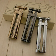 Creative Flint Wheel Butane Refillable Pipe Cigarette Lighter with Gas Window