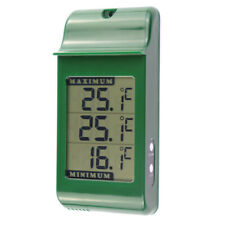 GREENHOUSE THERMOMETER LARGE DIGITAL MAX MIN IN GREEN  - 12/427/3