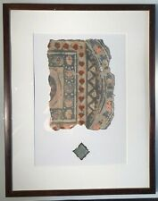 Antique Middle Eastern Framed Hand Painted Wallpaper