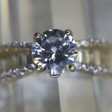 Vintage 7.5 mm rd Tourmaline Vermeil 925 Sterling Silver Anniversary Ring sz 8.5