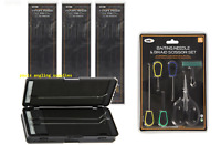 NGT Carp Fishing Rig Box Wallet  6 Way for 72 Rigs  18 x Hair Rigs + Tool Kit
