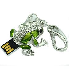 New Crystal Frog Keyring USB Flash Drive 8GB USB 2.0 Memory Stick Flash Disk