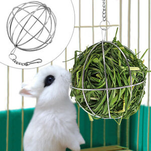 Pet Hay Manger Dish Food Feeder Grass Rack Ball for Rabbit Guinea Pig Hamster