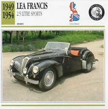 1949-1954 LEA FRANCIS 2.5 Litre Sports Classic Car Photo/Info Maxi Card