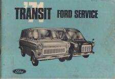 FORD TRANSIT MK1 1.7 & 2.0 V4 PETROL / 2.4 DIESEL ORIG. 1971 SERVICE RECORD BOOK