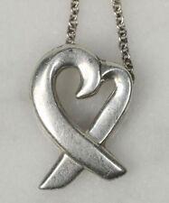 Genuine TIFFANY & CO. Paloma Picasso 925 Silver Necklace. Loving Heart Ribbon