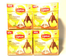 LIpton Tea Pear Chocolate (4x20) 80 Pyramid Tea Bags ,New ,Fast&Free UK Delivery