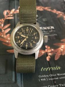 Vietnam Korean war US military Bulova MIL-W-3818A Navigational men's watch, Hack