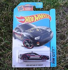 BLACK Ford Mustang GT Concept Sheriff Police Car. CFH69. HW City ~ 2015. NEW!