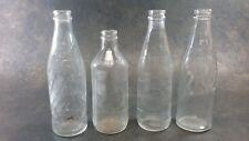 Vintage Glass 10oz Pepsi Cola Bottles Embossed Swirl Bottle