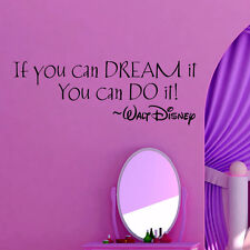 IF YOU CAN DREAM IT YOU CAN DO IT inspiring quotes Vinyl Wall Stickers Lettering