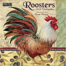 2019 Roosters Wall Calendar, More Folk Art by Wells Street by LANG