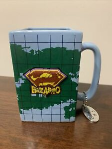 2009 Six Flags BIZARRO Superman Square Earth Coffee Tea Mug Cup Pen Holder