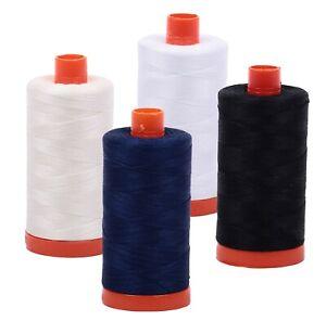 Aurifil Mako 50wt Thread Large Spools 1422 yards (1300 meters) in Various Colors