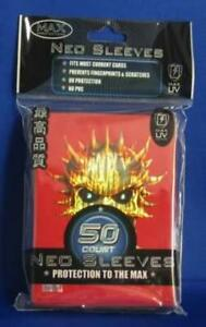 Max Protection Card Protection Neo Sleeves - Skull Red (50) New