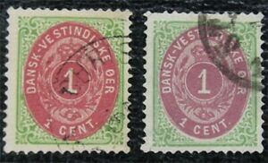 nystamps US Danish West Indies Stamp # 5,5e Used $68   L16x1056