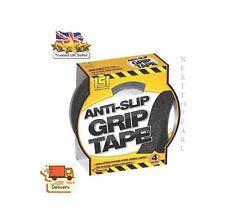ANTI SLIP GRIP TAPE INDOOR OUTDOOR 25MM x 4M ADHESIVE ABRASIVE GRIT,NEW