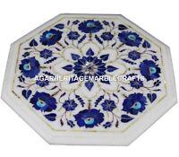 Marble Coffee Table Top Lapis Lazuli Inlay Mosaic Pirtradure Halway Decor H1400