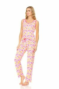 PJL940 Women Pajamas Pants Set Sleeveless Sleepwear Woman Sleep Nightshirt
