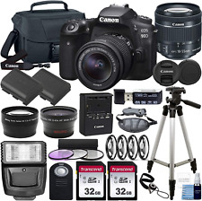 Canon Eos 90D Dslr Camera And Canon Ef-S 18-55Mm F/3.5-5.6 Is Stm Lens  Deluxe