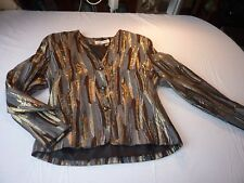 VINTAGE JACQUES VERT 1980'S UK 12 D38 SIVER/GOLD/BRONZE JACKET VGC