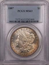 1887 Morgan Silver Dollar $1 Coin PCGS MS-63 Light Toning VAM 11 (BR-20 A)