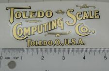vintage Toledo Computing Scale Co. decal