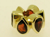 Bd032 - Genuine Solid 9ct Yellow Gold NATURAL Garnet HUGE Bead Charm