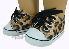 """Leopard Print Sneakers Shoes fits 18"""" American Girl Boy Doll Clothes Logan"""