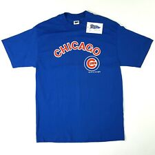Vintage Trench 1987 Chicago Cubs T Shirt Size L Single Stitch New MLB 80's