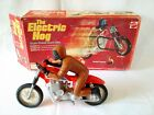 Electric Hog Stunt Bike & Rider in Box – Untested – 1973