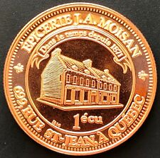 1987 Lower Canada J.A Moisan Rue St Jean Quebec 1 Ecu Token with COA