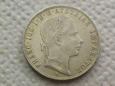 Gulden 1857 A Wien Franz Josef Münze aus Silber   W/20/624